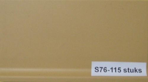 Plinttegels, geel, Maat 8 x 14.5 cm. - s76
