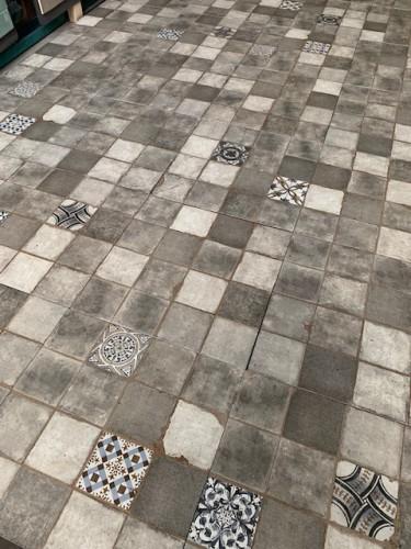 Mozaiek Ùnico, Alagna gris, maat 45 x 45 cm. - 4179
