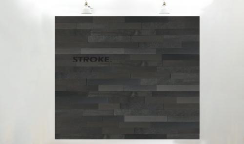 Stroke® black long, 9.7 cm. hoogte, variabele breedte vanaf 45 cm. - 8001