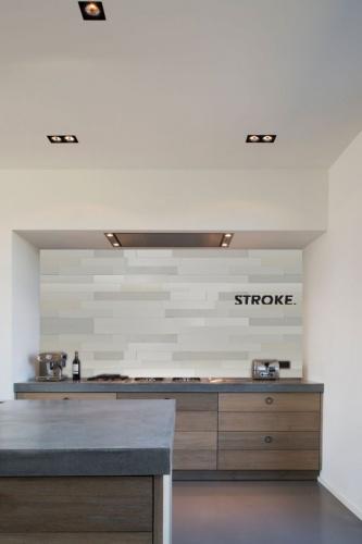Stroke®  Chalk white, 9.7 cm. hoogte, variabele breedte vanaf 45 cm. - 8002