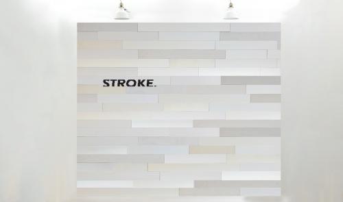 Stroke® white long, 9.7 cm. hoogte, variabele breedte vanaf 45 cm. - 8002