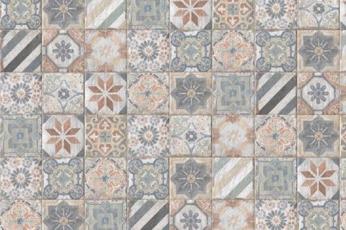 Vloertegels Ùnico, Alvignano mix, maat 20 x 20 cm. - 4321
