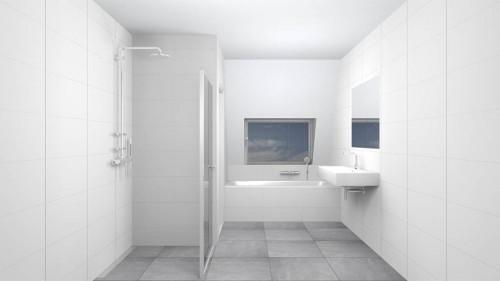 Wandtegels  Basics, mat wit gerectificeerd, maat 30 x 60 cm.  - 2380
