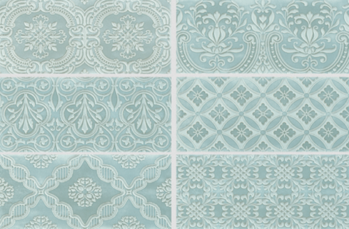 Wandtegels Private label, Amantea aqua decor, maat 11 x 25 cm. - 4370