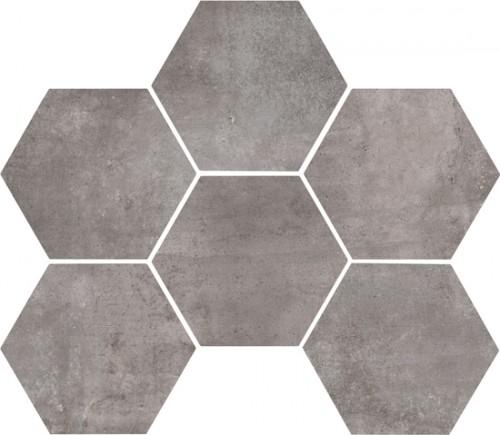 Vloertegels Ùnico, Lava hexagonaal, maat 18 x 21 cm. - 4423