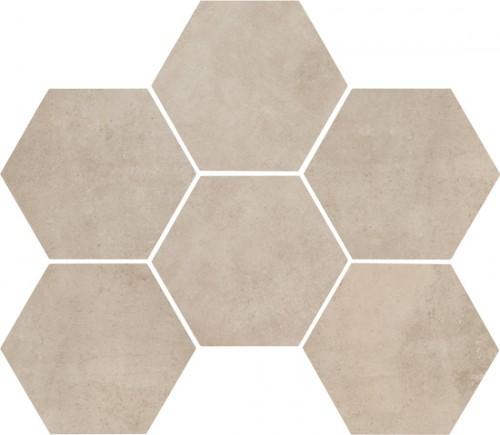 Vloertegels Ùnico, Shell hexagonaal, maat 18 x 21 cm. - 4425