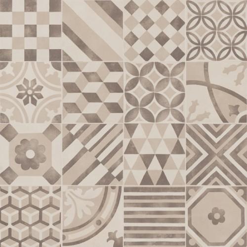 Patchwork tegels Ùnico, Mix greige, 15 x 15 cm. - 4430