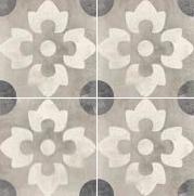 Vloertegels Vintage Symphony Retro decor 2, maat 20 x 20 cm. - 10005