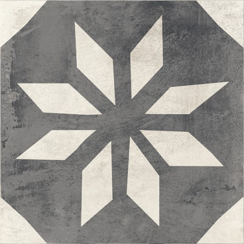 Vloertegels Vintage Retro decor 8, maat 20 x 20 cm. - 10011