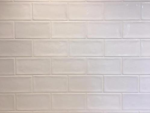Wandtegels Private label, Alfaro blanco brillo, maat 7.5 x 15 cm. - 4696