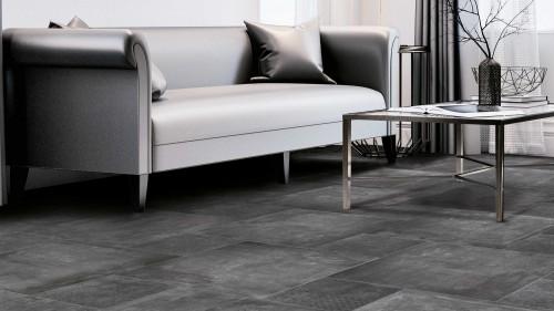 Vloertegels Squares, Arsita black, maat 80 x 80 cm.  - 4764