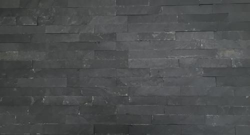 Wandtegels Stonepanel black natuursteen, maat 15 x 55 cm. - 10020 (let op: alleen online verkrijgbaar)