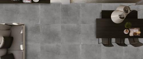 Vloertegels Squares Space graphite, maat 90 x 90 cm. - 4788