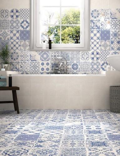 Vloertegels Ùnico Arzignano blanco decor, maat 44.2 x 44.2 cm. - 4913