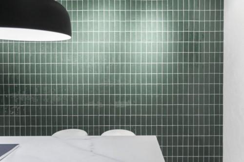 Wandtegels Ùnico Asola jade glans, maat 7.5 x 15 cm. - 4935d