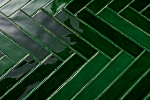 Wandtegels Ùnico Oud groen mix, maat 5 x 25 cm. - 4938