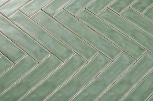 Wandtegels Ùnico apple green, maat 5 x 25 cm. - 4939