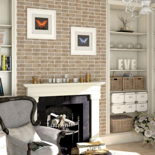 Vloertegels Ùnico Brick Badesi beige, maat 6 x 25 x 1.0 cm. - 10114