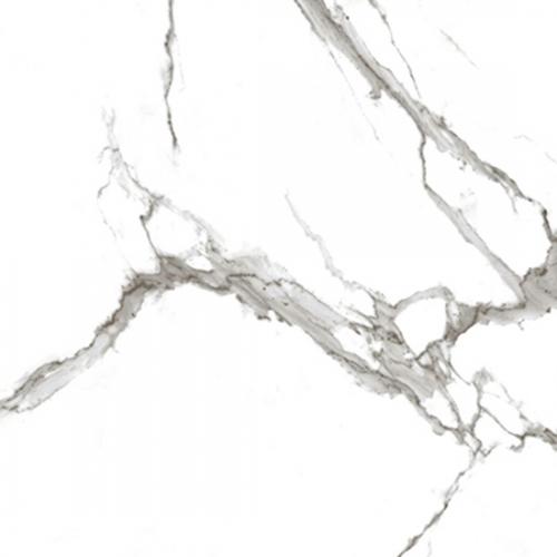 Vloertegels Squares Marmo Bianco glans, maat 100 x 100 cm. - 10118