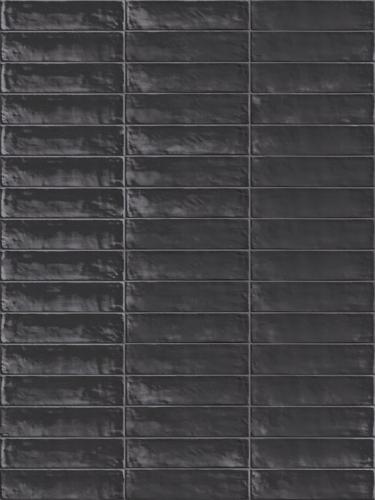 Wandtegels Ùnico brick antracite lux, maat 6 x 24 cm. - 5387