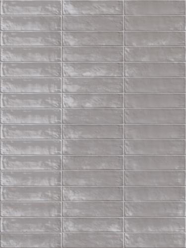 Wandtegels Ùnico brick grigio lux, maat 6 x 24 cm. - 5380