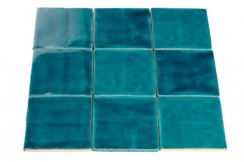 Wandtegels Ùnico petrol, maat 13 x 13 cm. - 5389