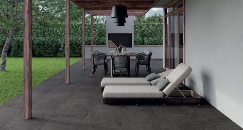 Terrastegels Abetone nero, maat 60 x 60 x 2.0 cm. - 5516 (let op: alleen online verkrijgbaar)