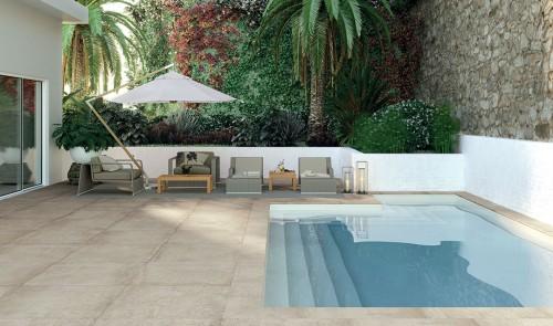Terrastegels Abetone project beige, maat 100 x 100 x 2.0 cm. - 5466 (let op: alleen online verkrijgbaar)