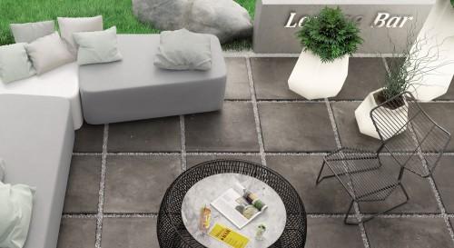 Terrastegels Abetone piombo, maat 60 x 60 x 2.0 cm. - 5510 (let op: alleen online verkrijgbaar)