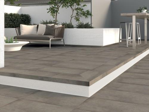 Terrastegels Abetone dark grey, maat 60 x 60 x 2.0 cm. - 5504 (let op: alleen online verkrijgbaar)