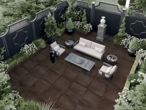 Terrastegels Abetone brown, maat 60 x 60 x 2.0 cm. - 5502 (let op: alleen online verkrijgbaar)