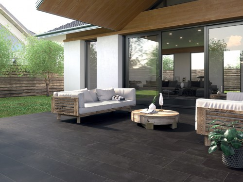 Terrastegels Abetone antracite, maat 60 x 60 x 2.0 cm. - 5512 (let op: alleen online verkrijgbaar)