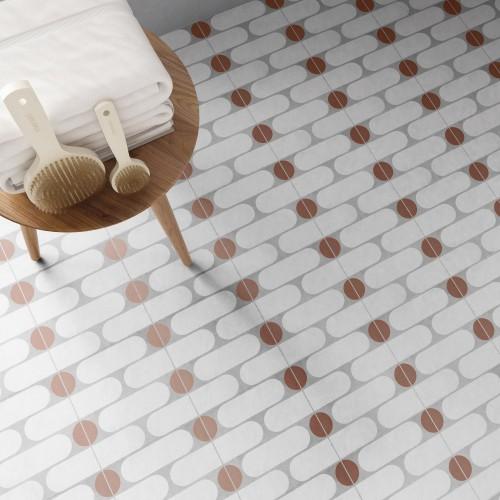 Vloertegels Ùnico Baiso decor 1, maat 20 x 20 x 1.0 cm. - 10140 (let op: alleen online verkrijgbaar)