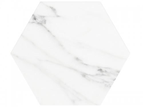 Vloertegels Ùnico, Hexagon banchette wit, maat 20 x 24 x 1.0 cm. - 5574