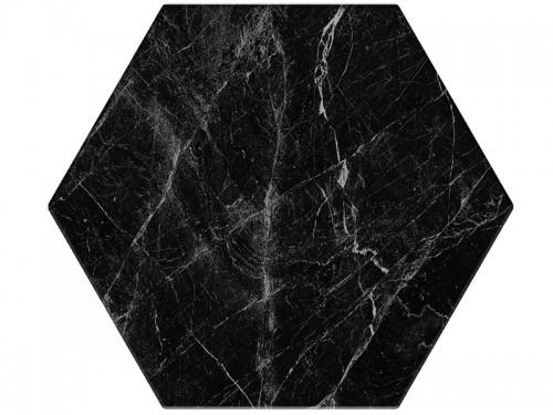 Vloertegels Ùnico, Hexagon banchette zwart, maat 20 x 24 x 1.0 cm. - 5575