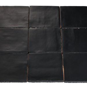 Wandtegels Masone mat zwart, maat 13 x 13 x 1.0 cm. - 5577