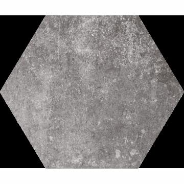 Vloertegels Hexagon pompeia gris, maat 20 x 24 cm. - 10162 (let op: alleen online verkrijgbaar)